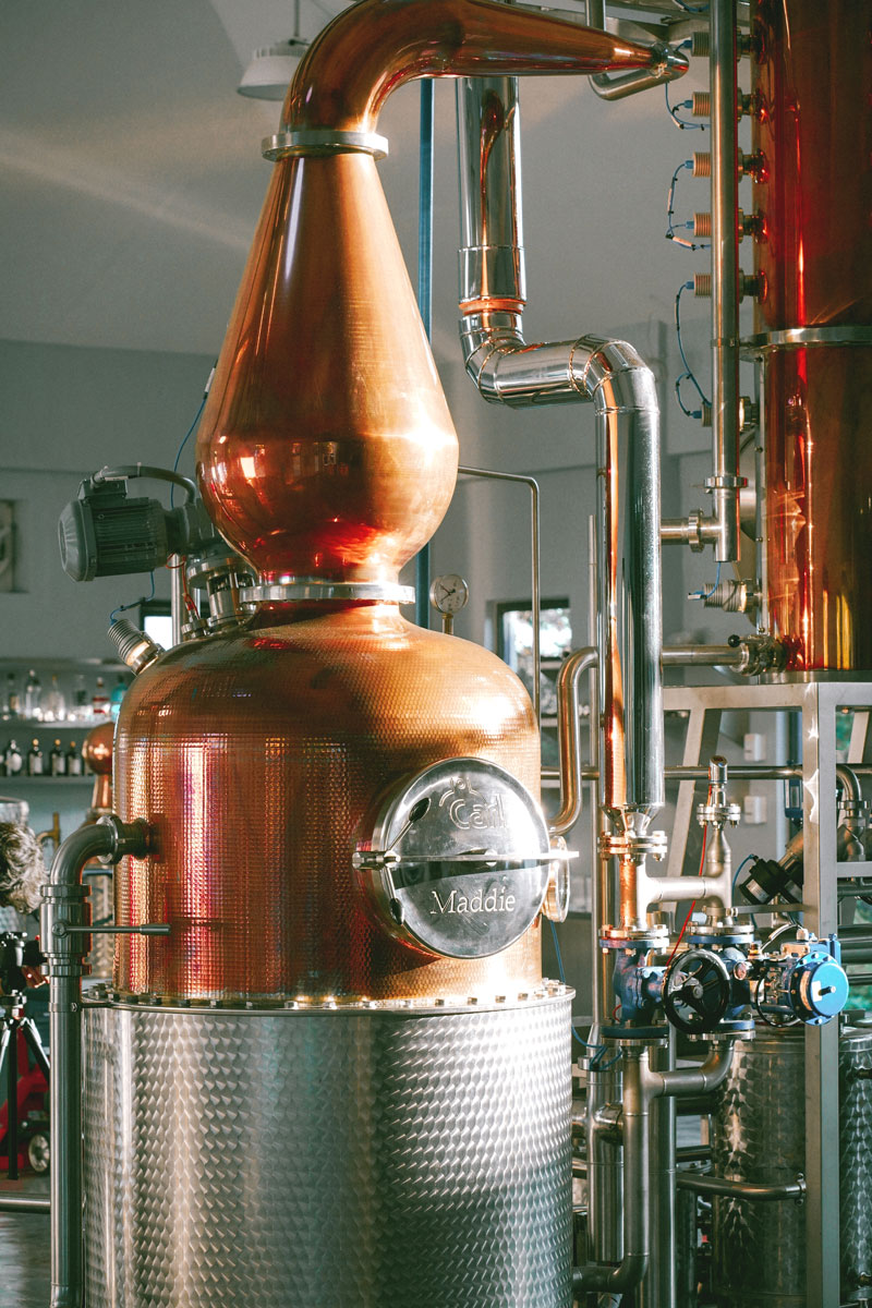 Full Circle Distillery Maddie copper still